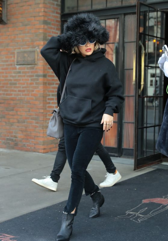 Rita Ora in All-Black Out in NYC
