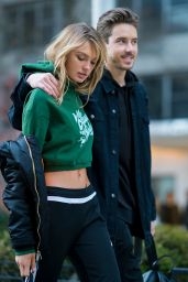 Romee Strijd With Laurens van Leeuwen - Out in Washington Square Park in NYC