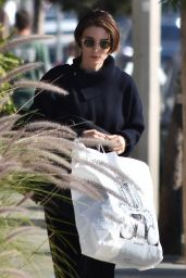 Rooney Mara Shops at International Silks & Woolen in Studio City
