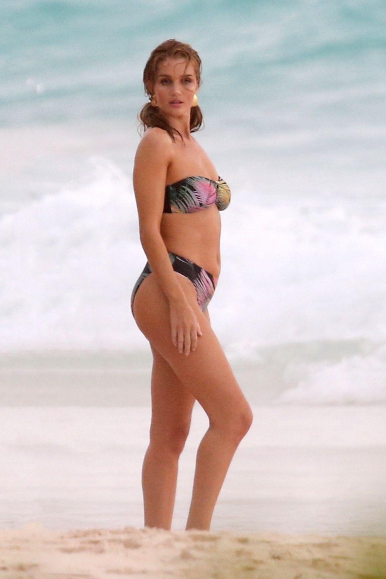 Rosie Huntington Whiteley Shooting A New Bikini