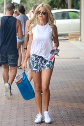 Roxy Jacenko Leggy in Shorts - Sydney 01/28/2018
