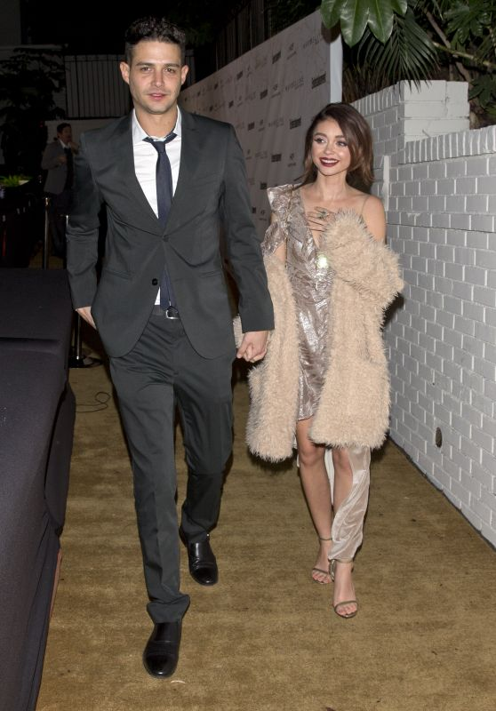 Sarah Hyland with Wells Adam - Leaving a Private Party in West Hollywood