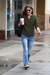 Selma Blair Street Style - at a Local Gas Station in Studio City