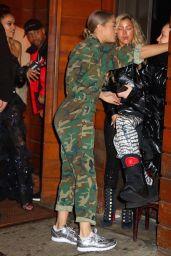 Shanina Shaik and Jasmine Sanders at the 1Oak Grammy Party in New York