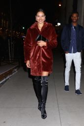 Shanina Shaik Leaving the Republic Records Party in New York