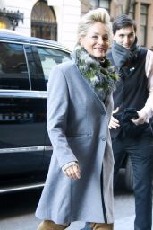 Sharon Stone at Her Hotel in NYC 01/18/2018