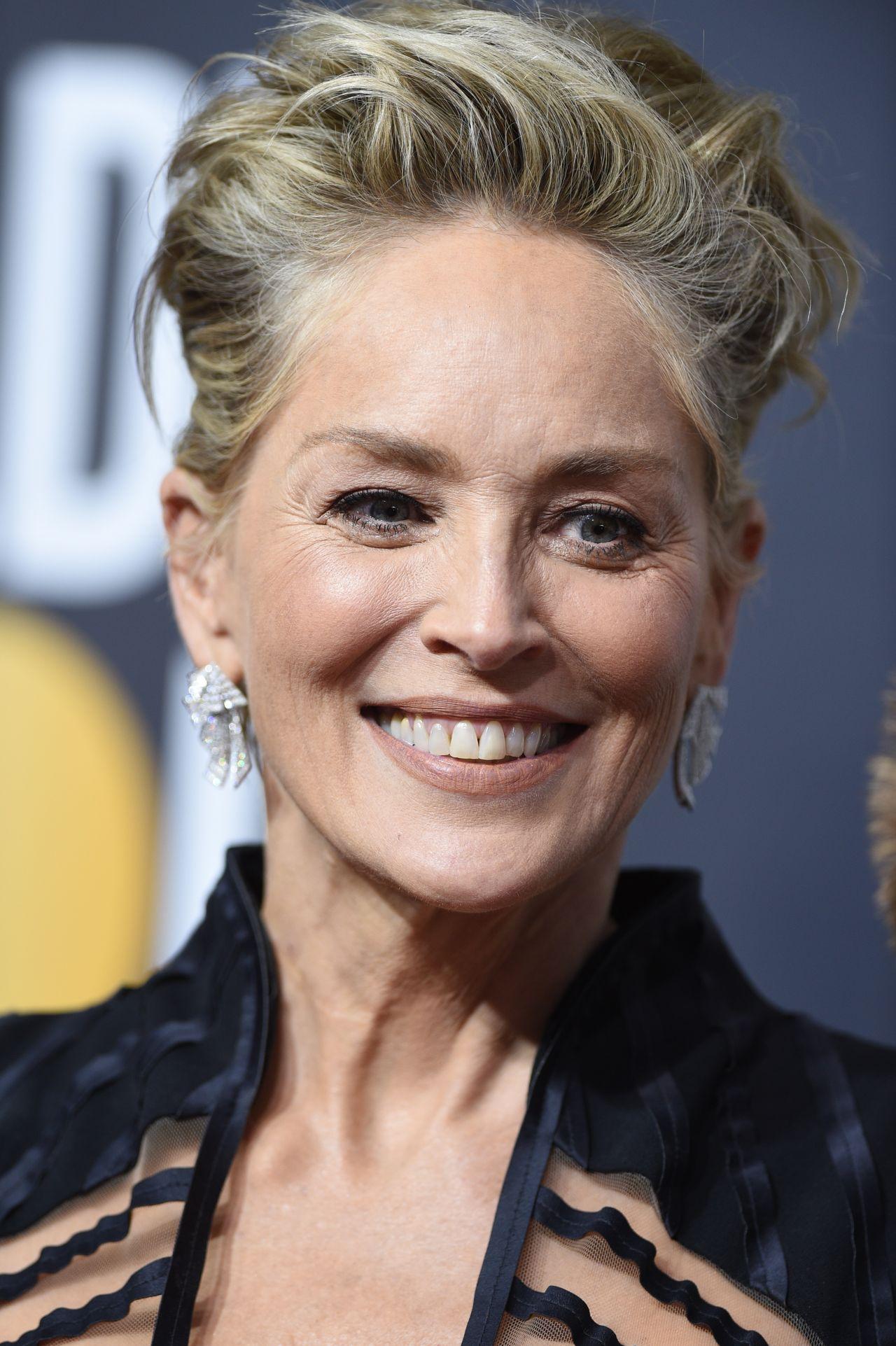 Sharon Stone Golden Globe Awards 2018