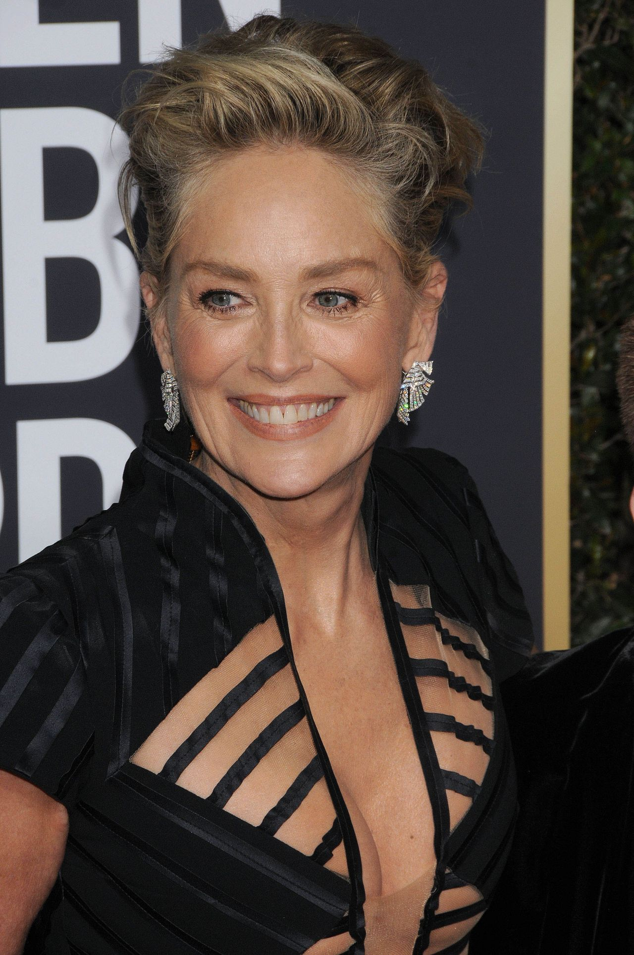 sharon stone golden globe awards 2018. Black Bedroom Furniture Sets. Home Design Ideas