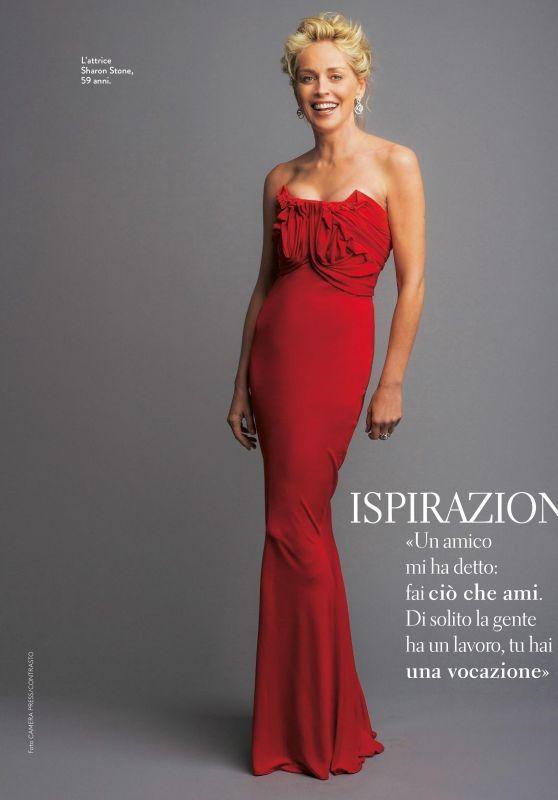 Sharon Stone - Grazia Italia January 2018