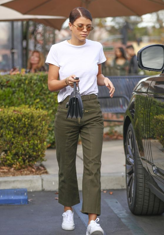 Sofia Richie in Casual Outfit at a Gas Station in Calabasas