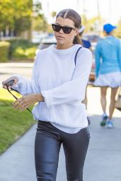 Sofia Richie in Leather Leggings - Agora Hills, January 2018