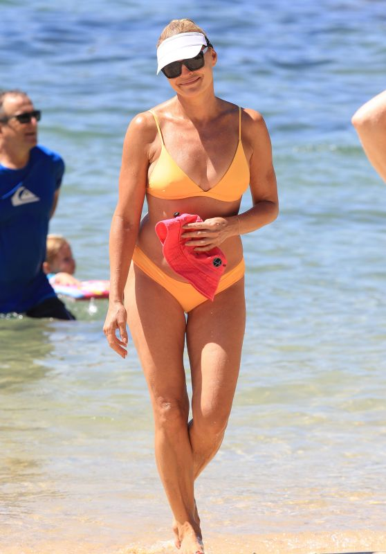 Sonia Kruger In Bikini At The Beach In Sydney