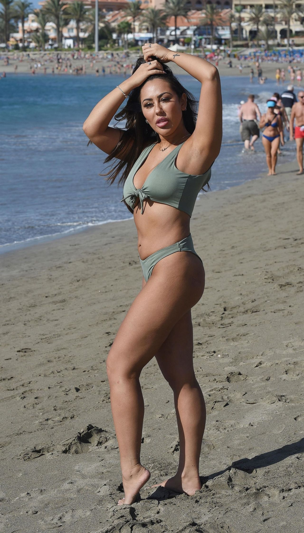 Sophie Kasaei in Black Bikini on holiday in Turkey Pic 1 of 35
