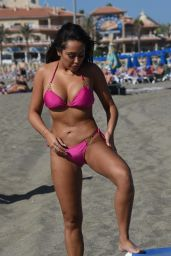 Sophie Kasaei in Bikini on the Beach in Lanzarote