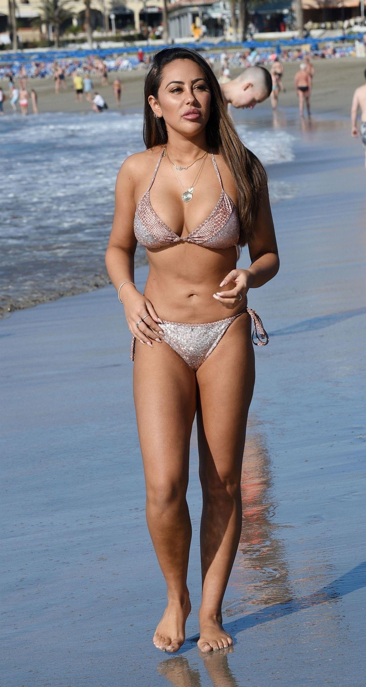 Sophie Kasaei in Bikini on the beach in Turkey