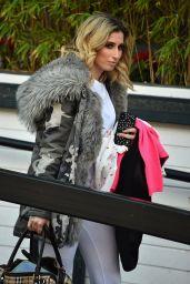 Stacey Solomon Leaving the ITV Studios in London