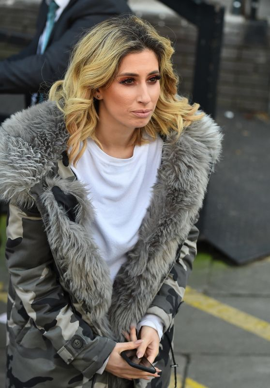 Stacey Solomon Leaving the ITV Studios in London