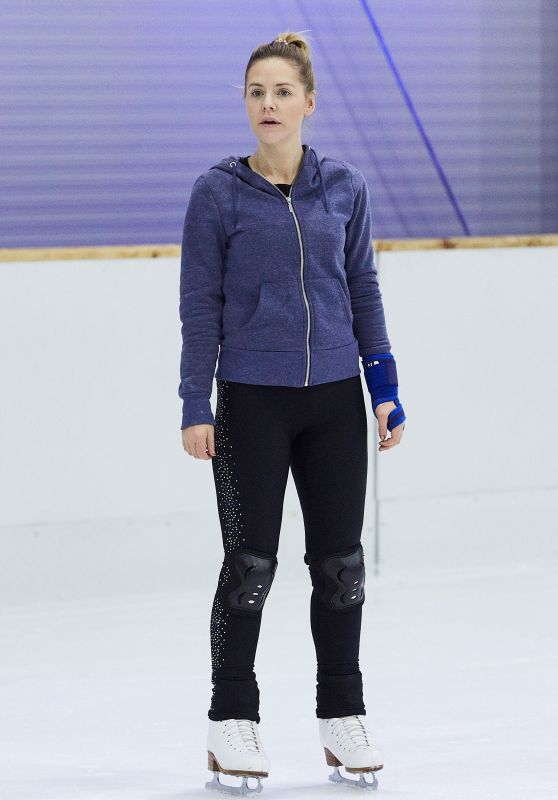 Stephanie Waring - Dancing On Ice Practice Session in London