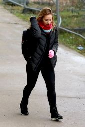 Stephanie Waring Leaving an Silverblades Ice Rink in Altrincham