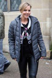 Stephanie Waring - Outside ITV Studios in London, UK
