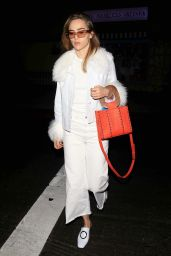 Suki Waterhouse in an All White Outfit - Piccolino Ristorante in West Hollywood