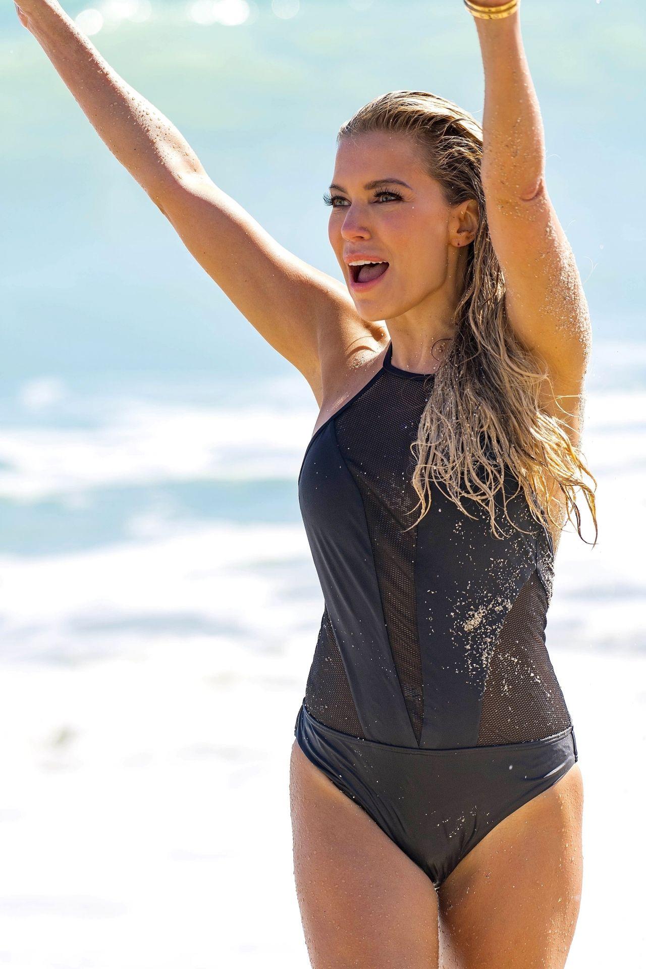 Sylvie Meis in Bikini Shooting her new Sylvie Designs bikini collection in Miami