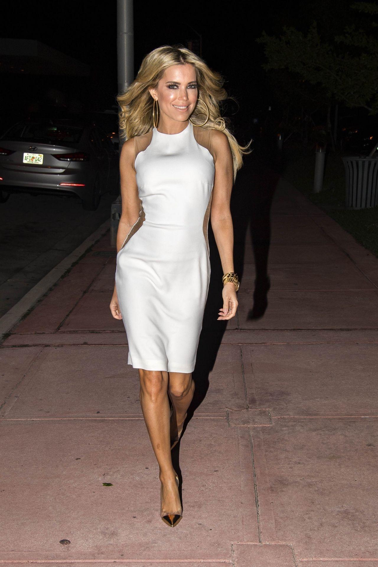 899dd72c80b Sylvie Meis in White Dress Night Out in Miami Beach