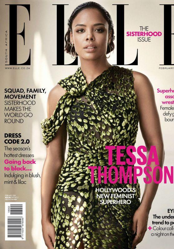 Tessa Thompson - ELLE Magazine South Africa February 2018 Issue