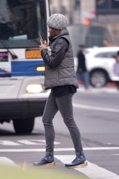 Tina Fey Chatting on her Iphone in NYC