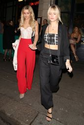 Tina Stinnes and Lottie Moss Night Out Style - Leaving Tonteria Night Club in London