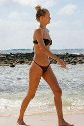 Toni Garrn in Bikini on the Beach in Hawaii