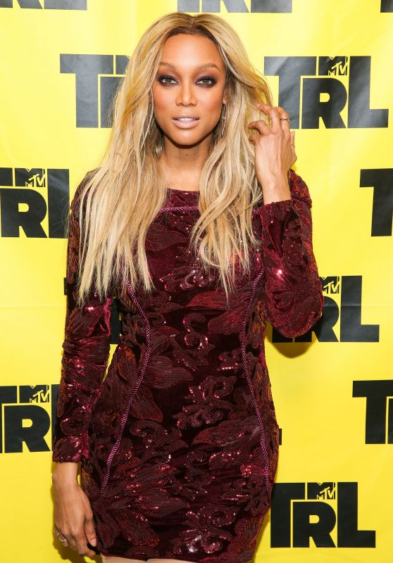 Tyra Banks Appeared on MTV TRL in New York