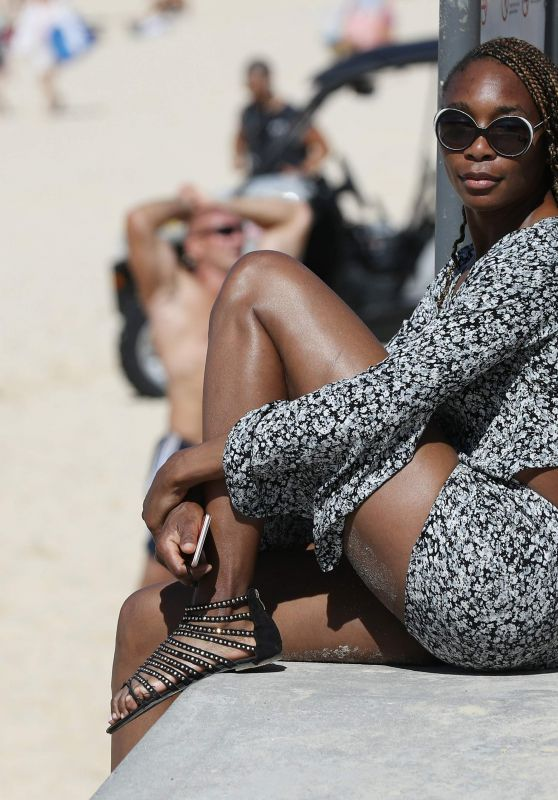 Venus Williams at Bondi Beach in Sydney