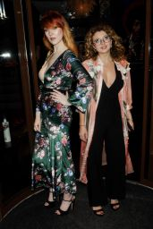 Victoria Clay and Emily Warburton-Adams - Curves Modeling Agency Party in London