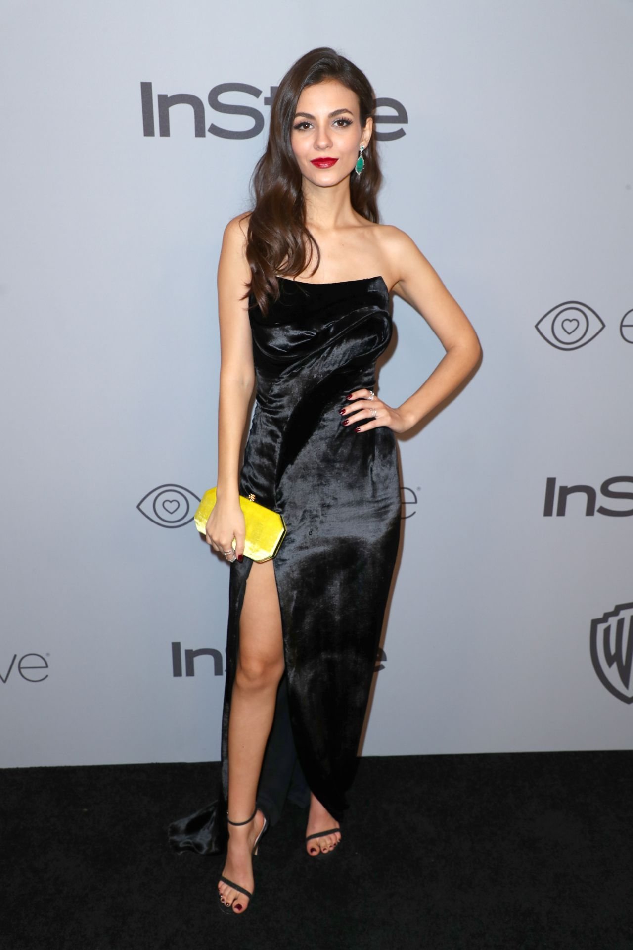 Victoria Justice Instyle And Warner Bros Golden Globes