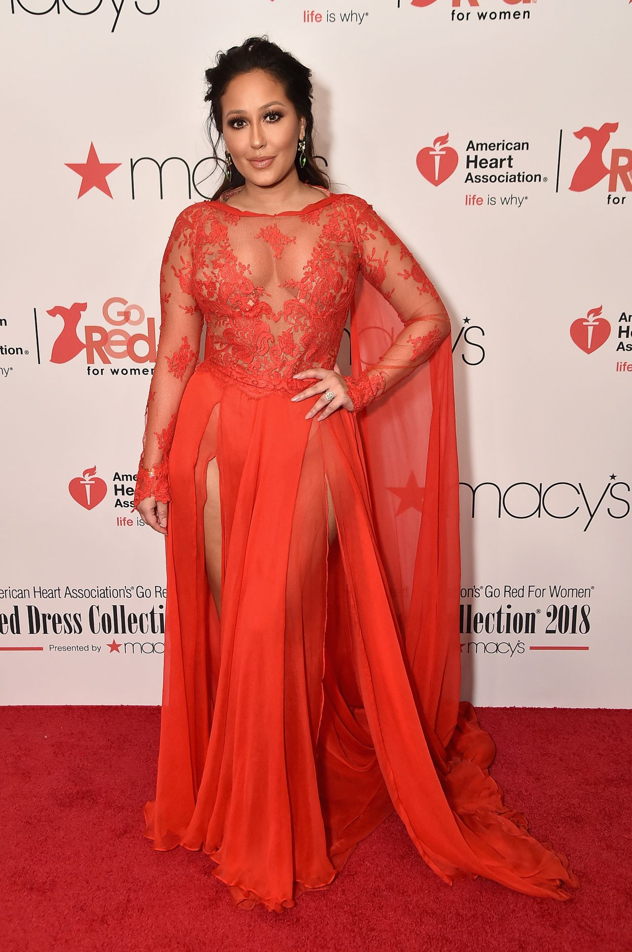 Adrienne Bailon - Go Red For Women Red Dress Collection 2018 Red Dresses For Women 2018