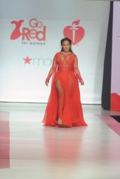 Adrienne Bailon Walks Runway for Red Dress 2018 Collection Fashion Show in NYC