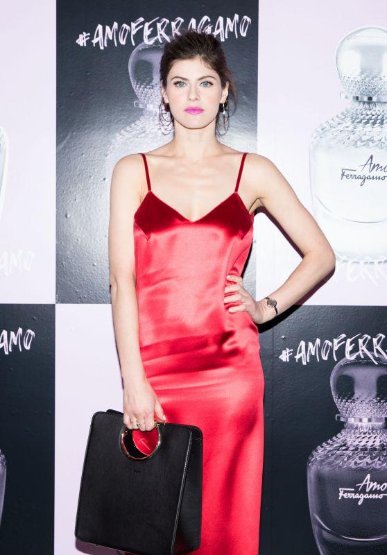 Alexandra Daddario – Amo Ferragamo hosted by Suki Waterhouse at NYFW