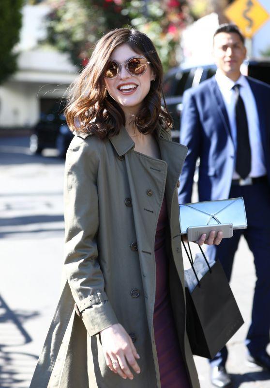 Alexandra Daddario - Leaving the CFDA Luncheon in LA