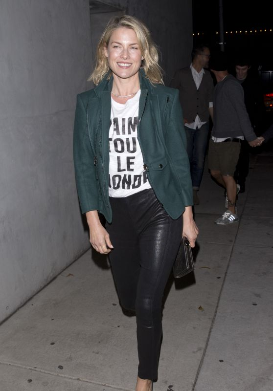 Ali Larter - Wearing J Aime Tout Le Monde Shirt at Craigs in West Hollywood