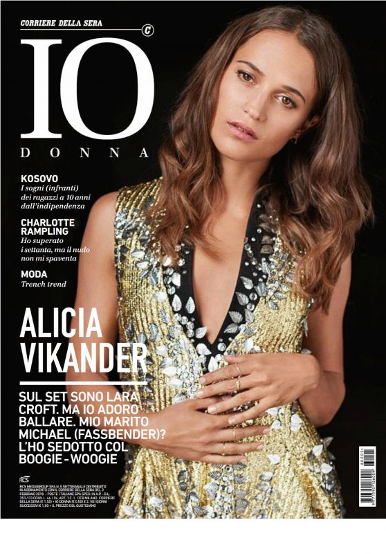 Alicia Vikander - Io Donna February 2018