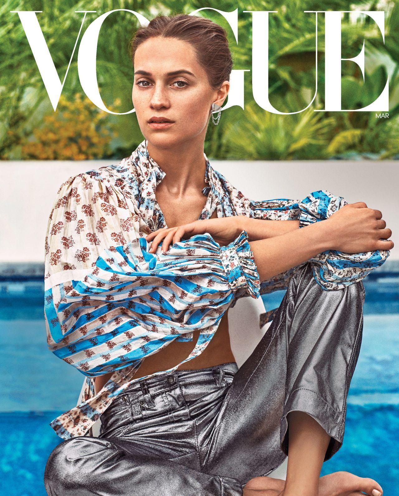 Alicia Vikander Vogue March 2018