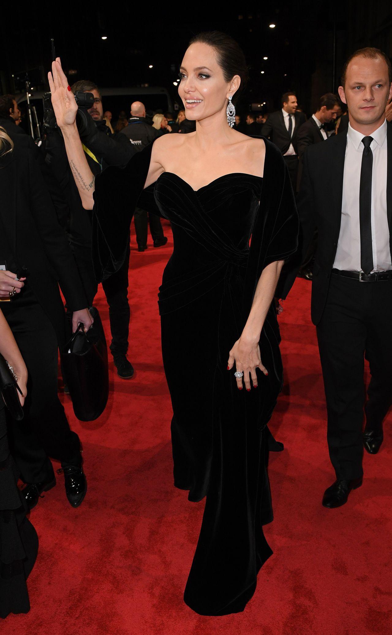 BAFTA 2018 sees Angelina Jolie drop jaws in tight black