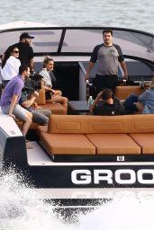 Anitta, Lele Pons, Anwar Jibawi, John Shahidi, David Grutman, and Isabela Rangel - The Groot Yacht in Miami