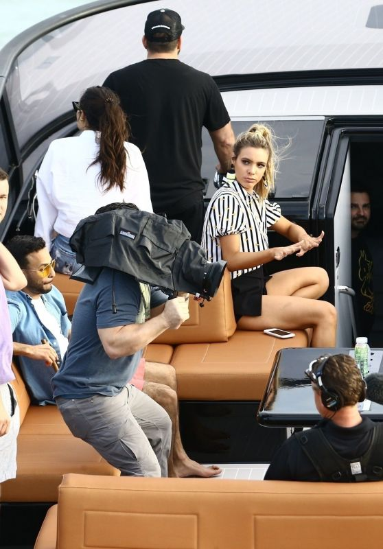 Anitta, Lele Pons, Anwar Jibawi, John Shahidi, David Grutman, and Isabela Rangel - The Groot Yacht in Miami