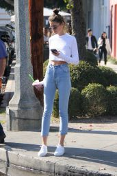 Anna Litva Street Style - Melrose Place in West Hollywood 01/31/2018