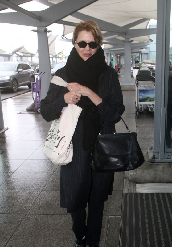 Annette Bening at Heathrow Airport in London 02/19/2018