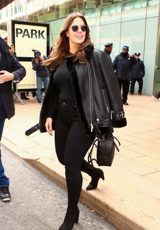 Ashley Graham - Leaving the Michael Kors Collection Fall 2018 Runway Show in NYC