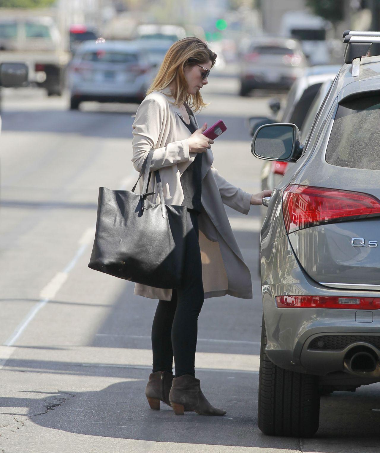 Ashley Greene In Leggings Running Errands In Beverly