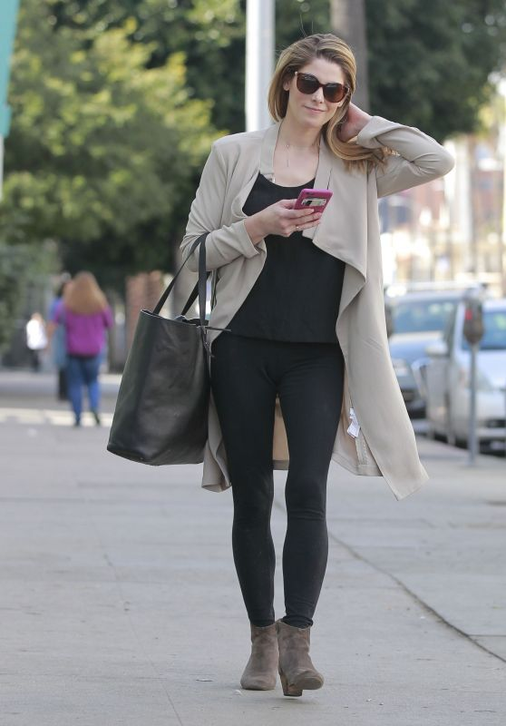 Ashley Greene in Leggings - Running Errands in Beverly Hills 02/22/2018